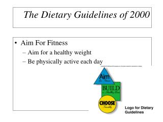 The Dietary Guidelines of 2000