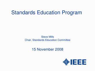 Standards Education Program