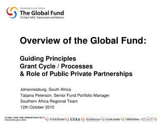 Johannesburg, South Africa Tatjana  Peterson, Senior Fund Portfolio Manager