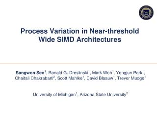 Process Variation in Near-threshold Wide SIMD Architectures