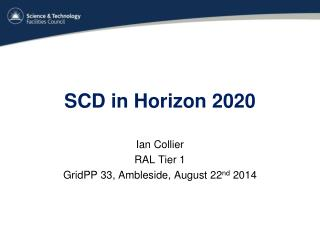 SCD in Horizon 2020