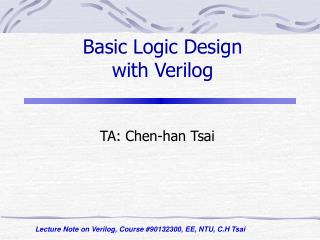 Basic Logic Design with Verilog