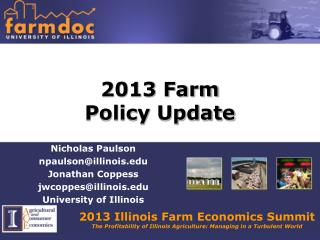2013 Farm  Policy Update