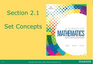 Section 2.1 Set Concepts
