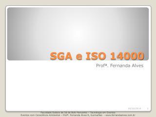 SGA e ISO 14000