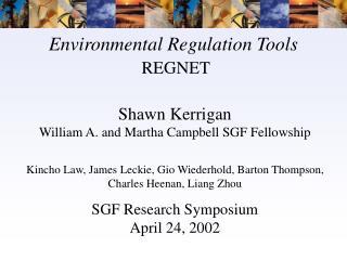 Environmental Regulation Tools REGNET