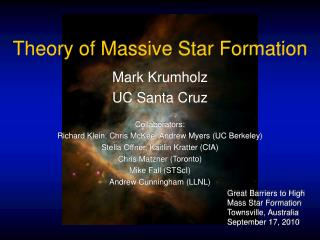 Theory of Massive Star Formation