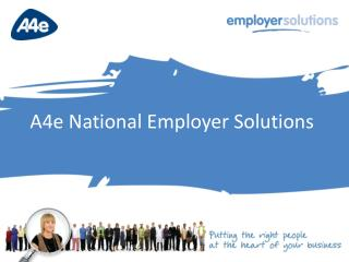 A4e National Employer Solutions