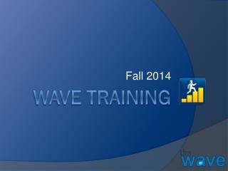 Wave Training
