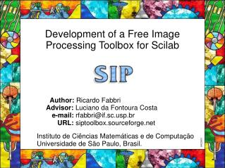 Development of a Free Image Processing Toolbox for Scilab