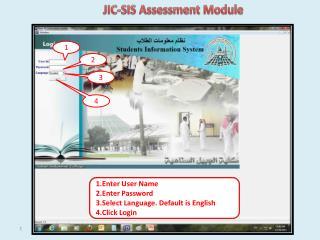 JIC-SIS Assessment Module