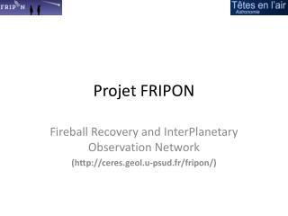 Projet FRIPON