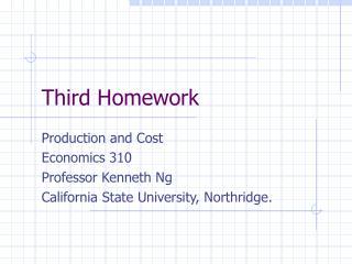 Third Homework