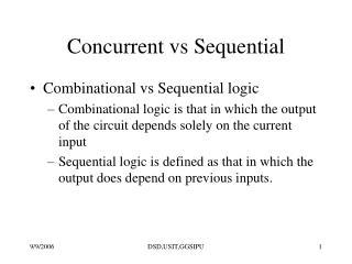 Concurrent vs Sequential