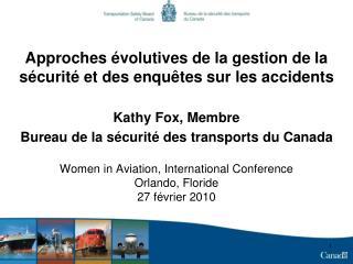 Approches évolutives de la gestion de la sécurité et des enquêtes sur les accidents