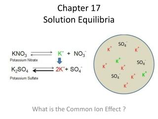 Chapter 17  Solution  Equilibria