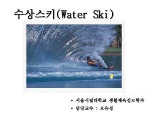 수상스키 (Water Ski)