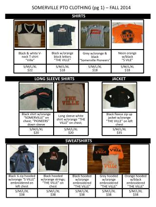 SOMERVILLE PTO CLOTHING (pg 1) – FALL 2014