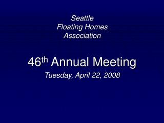 Seattle Floating Homes Association