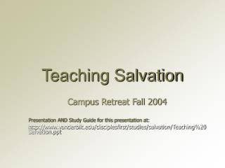 Teaching Salvation