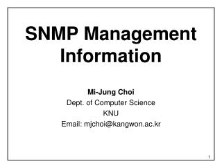 SNMP Management Information