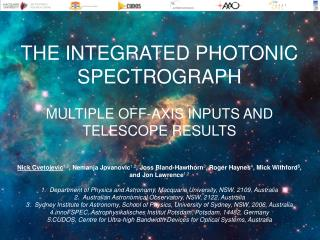 THE INTEGRATED PHOTONIC SPECTROGRAPH MULTIPLE OFF-AXIS INPUTS AND TELESCOPE RESULTS