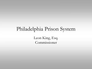 Philadelphia Prison System