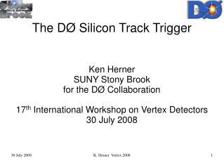 The DØ Silicon Track Trigger