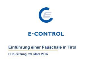 Einf�hrung einer Pauschale in Tirol