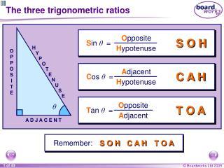 The three trigonometric ratios