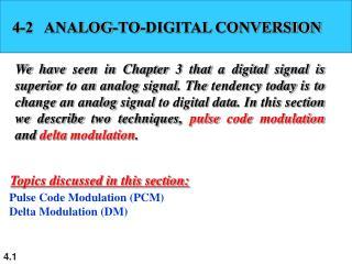 4-2   ANALOG-TO-DIGITAL CONVERSION