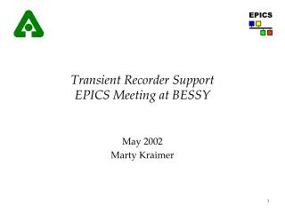 Transient Recorder Support EPICS Meeting at BESSY