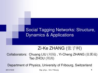 Social Tagging Networks: Structure, Dynamics & Applications