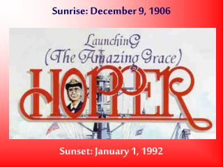 Sunrise: December 9, 1906