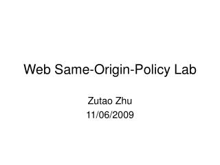 Web Same-Origin-Policy Lab