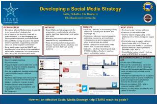Developing a Social Media Strategy Ashley Schaffer, Ebe Randeree Ebe.Randeree@cci.fsu