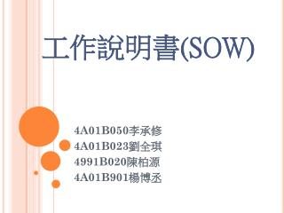 工作說明書 (SOW)