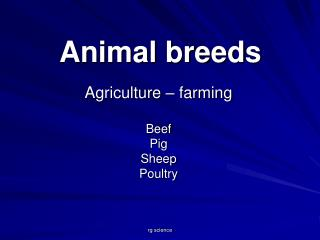 Animal breeds