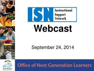 Webcast September 24, 2014