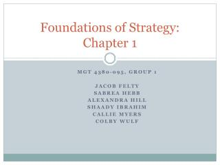 Foundations of Strategy: Chapter 1