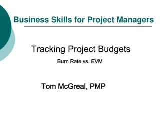 Business Skills for Project Managers