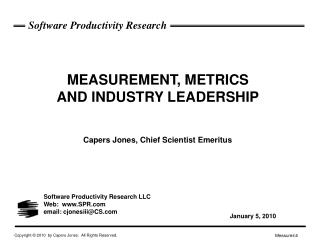 Software Productivity Research LLC Web:  SPR email: cjonesiii@CS