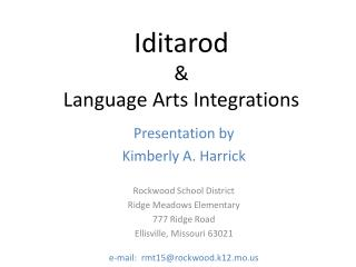 Iditarod   Language Arts Integrations