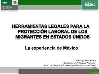 Herramientas legales para  la  protecci�n laboral de los migrantes en estados unidos