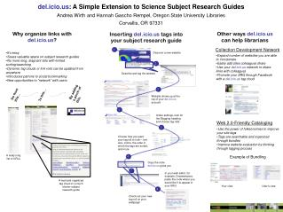 del.icio : A Simple Extension to Science Subject Research Guides