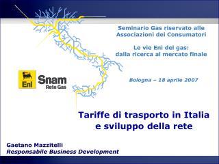 Tariffe di trasporto in Italia e sviluppo della rete