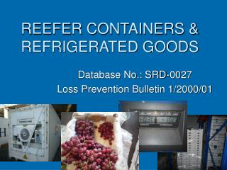 REEFER CONTAINERS & REFRIGERATED GOODS