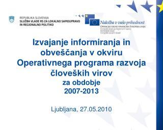 Ljubljana, 27.05.2010