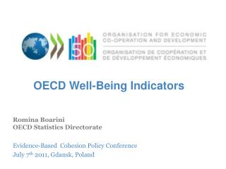 Romina Boarini OECD Statistics Directorate Evidence-Based  Cohesion Policy Conference