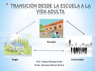 TRANSICIÓN DESDE LA ESCUELA A LA VIDA ADULTA